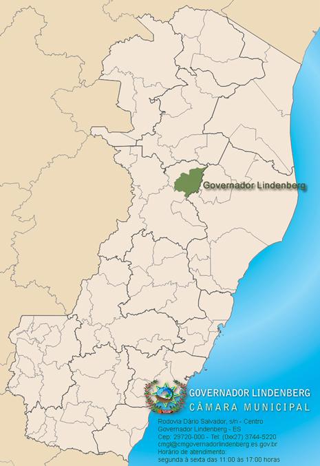 Governador Lindenberg Espírito Santo fonte: www.cmgl.es.gov.br